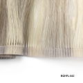 Factory price Mongolian cuticle alived Hair Highlight Double Stitching invisible hair Weft Extension