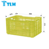 600x410x315mm Hot Sales Multi Purpose High Quality Storage Virgin PP Red Crate with handle for Industrial