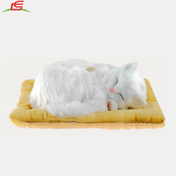 Lifelike Breathing Sleeping Cat Belly Moves Up and Down Electronic Pet Kitten Kitty Children Toy