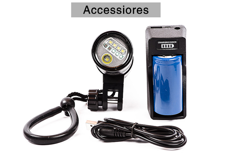 HI-MAX Scuba LED Professional Dive Torch For Photography