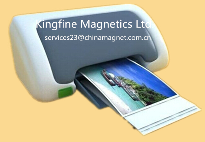 A4 size,white gloss, inkjet printable magnetic photo paper