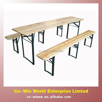 Wood Folding Tables And Chair Garden