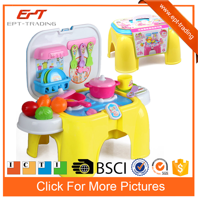 Luxury electric kitchen cooker toys set with light