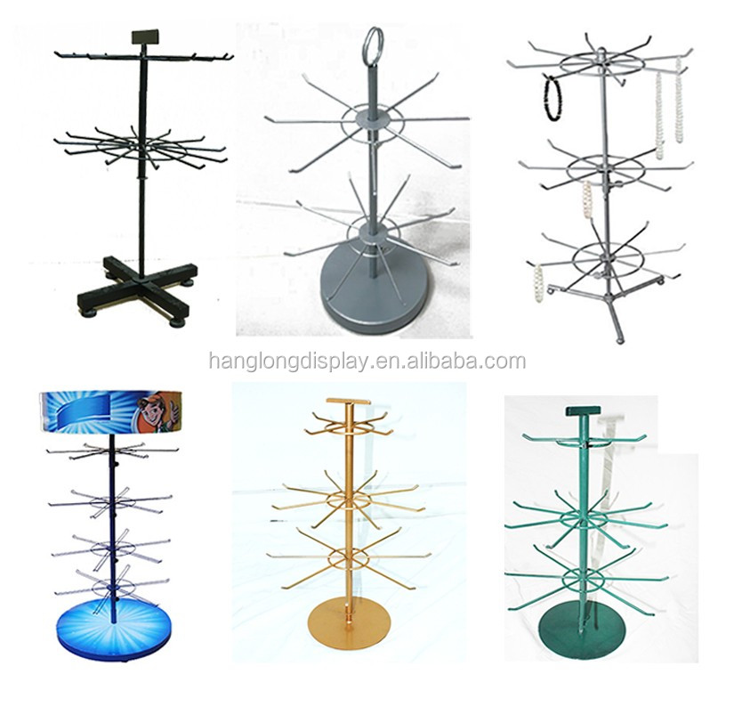 circular jewelry table top rotating display stand