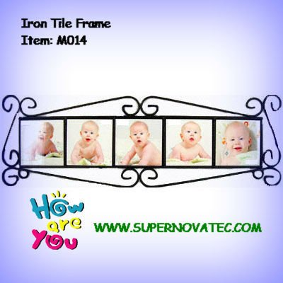 Iron Tile Frame with 5 pictures