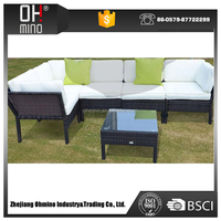 outdoor rattan classic one person extra long sofa