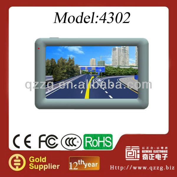 4.3-inch TFT screen,480*272 gps navigation for car GPS 4302