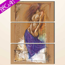 Printed art painting picture wall hanging woman nude sexy wall art painting designs