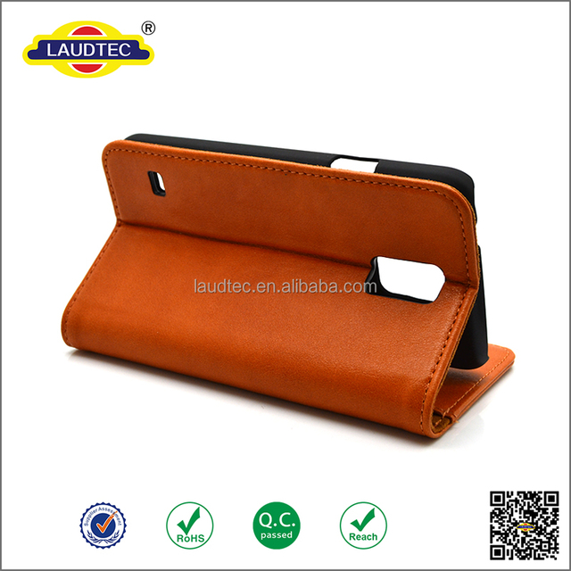 2015 Christmas stock high quality genuine leather wallet case for Samsung Galaxy S5