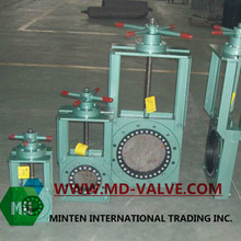 handwheel operated water knife gate valve with stainless steel valve body