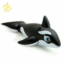 whale inflatable animal toy ride in pool for kids