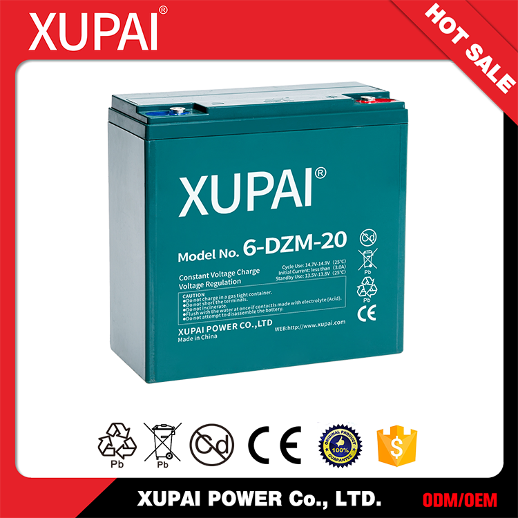 Hot sale Factory price 6-dzm-20 lead acid battery 12v