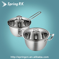 cookware set 304 stainless steel cheap kitchenware soup pot sauce pan manufacturer induction