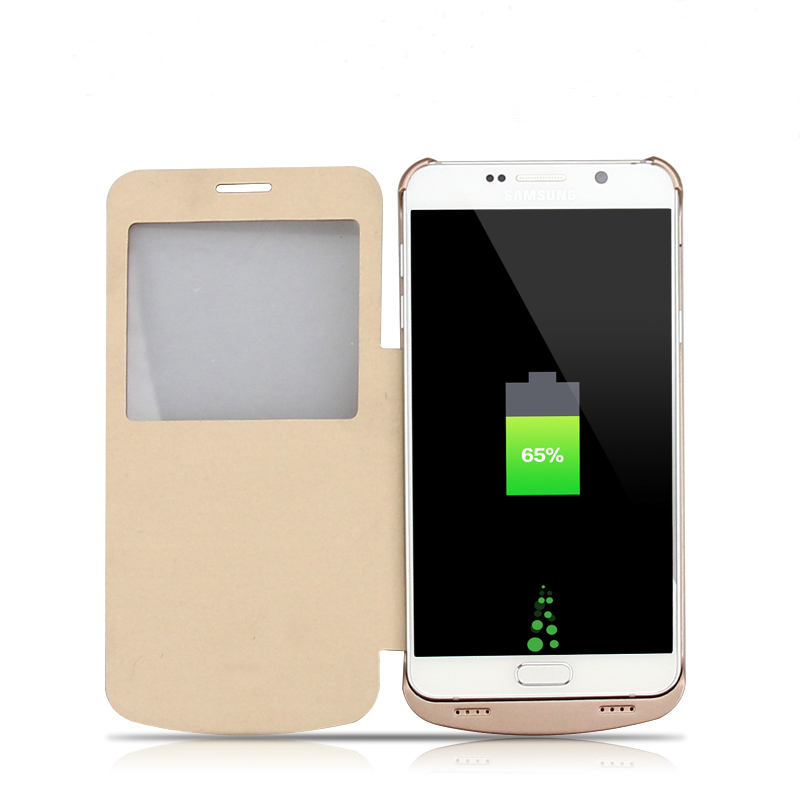 Flip cover battery case for Samsung Galaxy Note 5 battery case