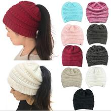 New Design Women Winter Hat Knitting Cap Winter Hats Horsetail Cap For Women