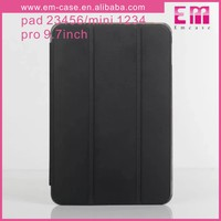 Solid Color Leather Stand Holder Transparent Cover TPU Case For iPad Mini