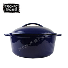 Trionfo FDA approved multi Color Cast Iron Cookware soup pot