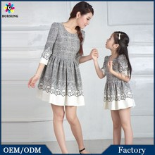 OEM Factory Fashion 100% Cotton Lace Hemlines Pluz Size Simple Long Sleeve Wedding Dress Little Girls Boutique Dresses