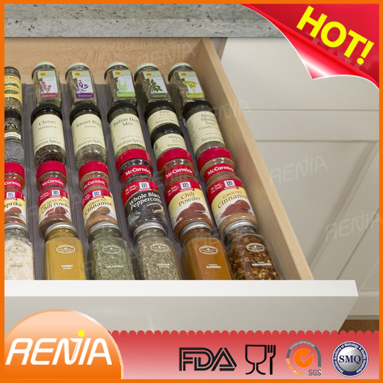 RENJIA silicone spice drawers silicone spice storage silicone SpiceLiner In Drawer