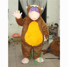 brown color custom mascot monkey king costume for zoo activity