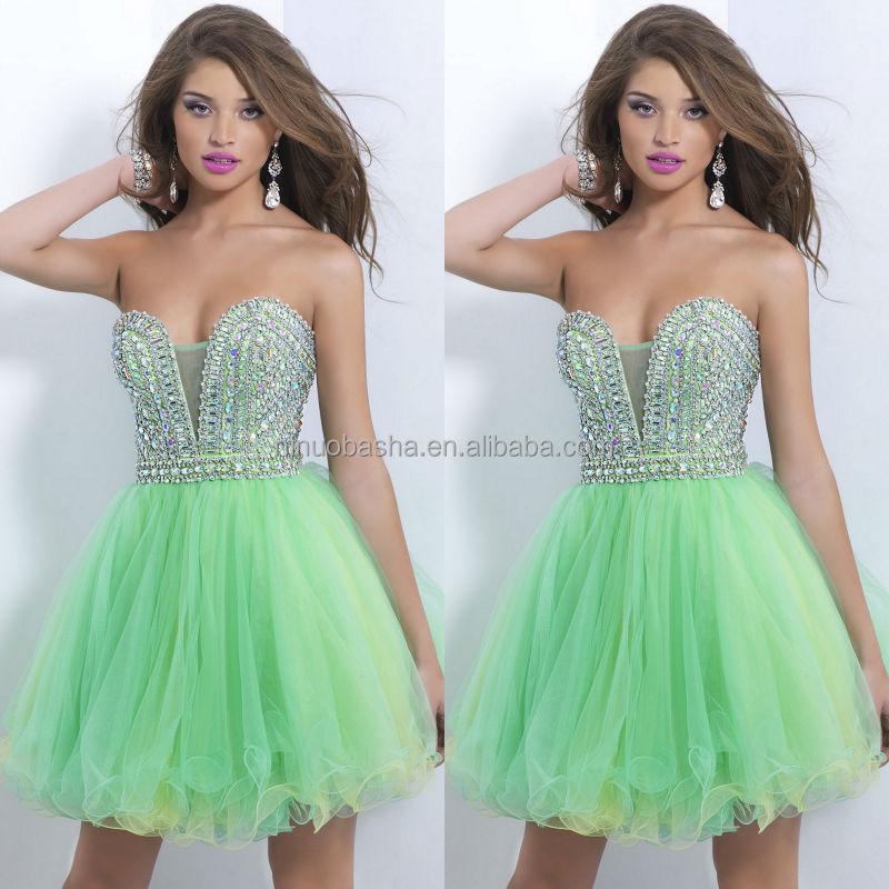 Alibaba Short Green Prom Dresses