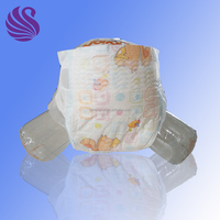 3D leak protection soft disposable sleepy baby diaper
