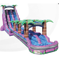 27ft purple crush Inflatable water slide with slip & slide