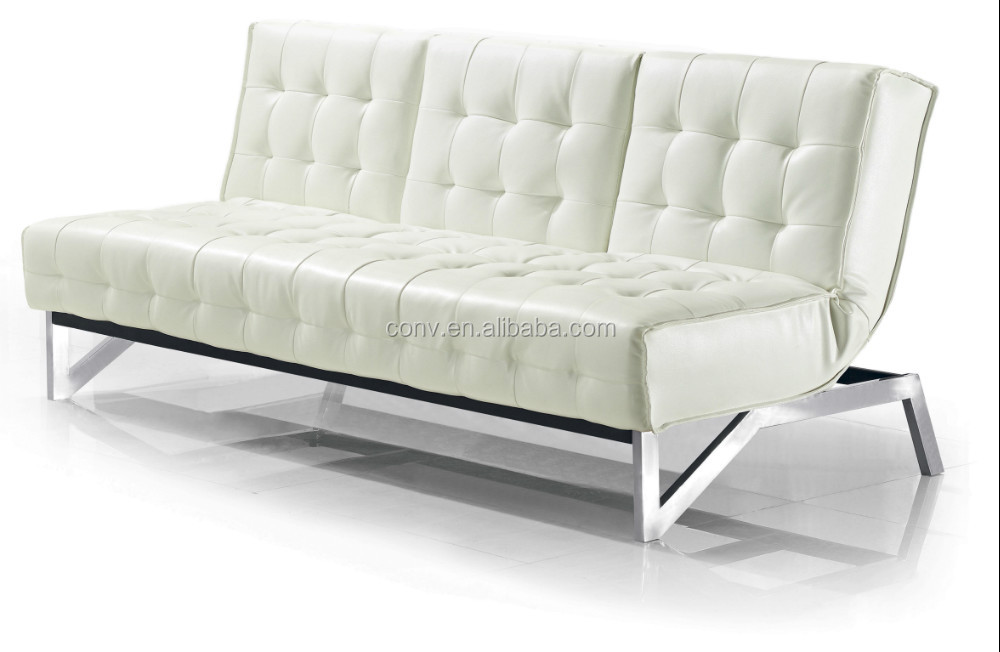 White Leather Living Room Sofa Bed Kws 017 Buy Living Room Sofa Bed Reclini