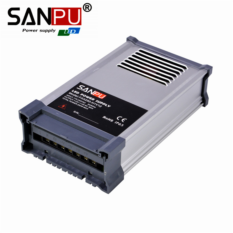 SANPU rianproof 250w 5v 50a smps led power supply 250w 12v rainproof led driver