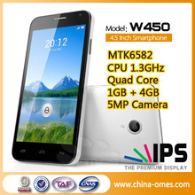 Favorites Compare Cheap 4.5 inch W450 MTK6582 android cell phone
