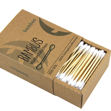 200pcs double head ear clean buds bamboo stick cotton swabs