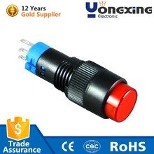 Reliable quality 10mm 3 pin mini latching push button momentary switch
