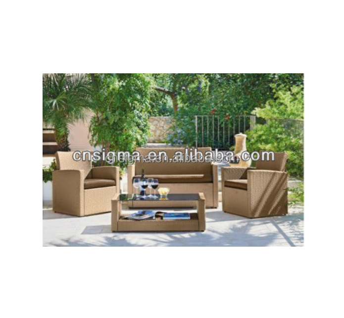 2014 Best Sale Poly Ratan 4 Piece Garden Furniture Sofa Set