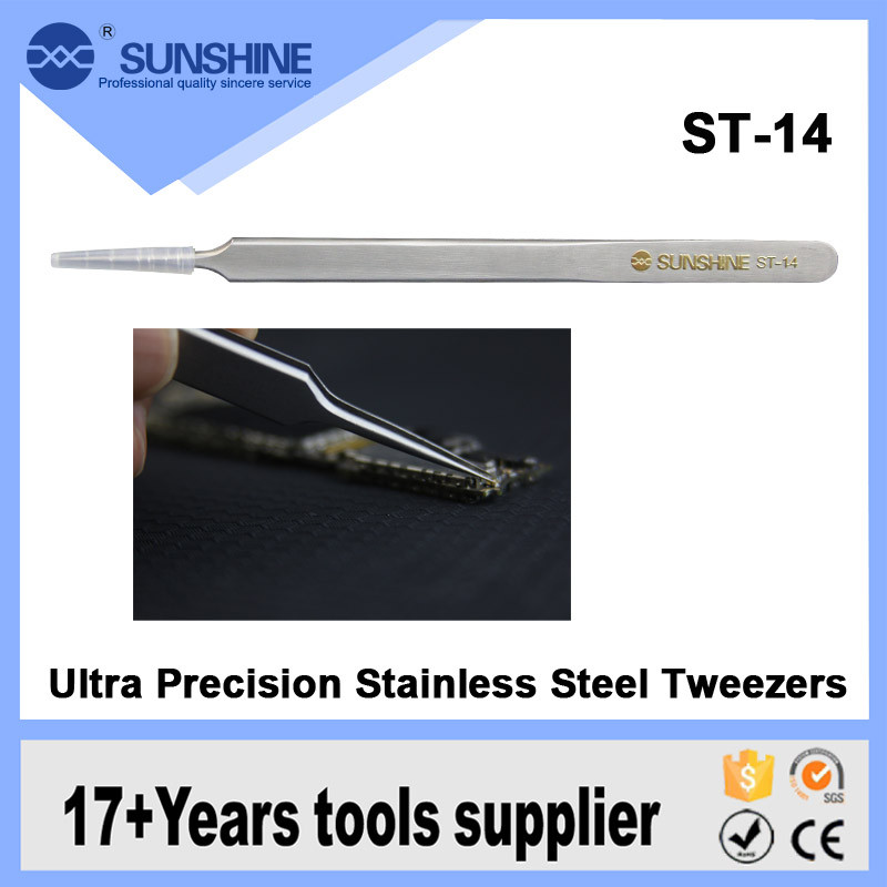 2016 best price precision anti-acid long stainless steel tweezers for soldering use