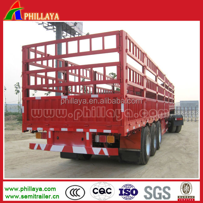 2014NEW 3 Axles multi-role 60ton stake truck semi trailer, rail semitrailer,used for live stock,animal,poultry transportation