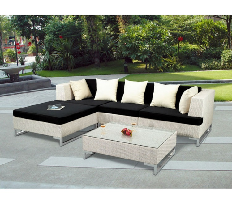 garden furniture corner sofa set rattan outdoor l shape sofa