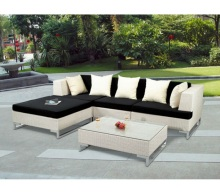 garden furniture corner sofa set rattan outdoor L-shape sofa