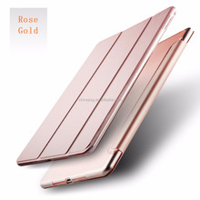 Eco friendly pure color pu leather case for ipad air cover for ipad 5 case