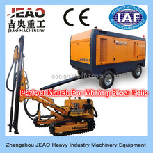 Popular in Market - 6 Cylinder Diesel Engine Mobile Diesel Double Stage Screw Air Compressor For Water Well Drilling Rig