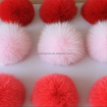 Real Natural Fox Fur Ball&Fox Fur Pompon Fox Vest Accessory