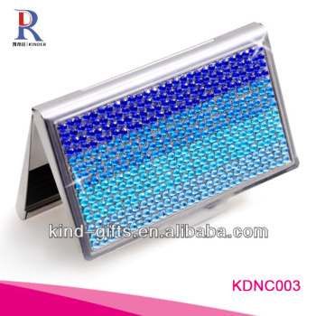 New Product Bling Bling Rhinestone Name Card Holder Size With Crystal China Factory