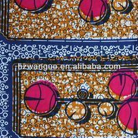 Cheap price 100% cotton real wax print fabric kain cotton