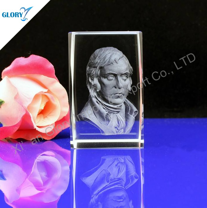 Top Quality Promotional Crystal Glass Cube Photo Frame