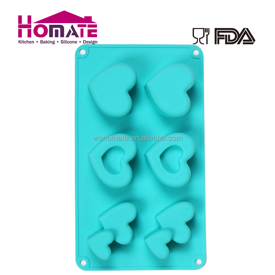 FDA&LFGB Silicone Molds Heart/Rose Shape Silicone Cake Mold With Fashionable Shape for Valentine's Day