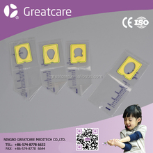 Disposable sterile Pediatric Urine collection bag with Flank seal or Front seal