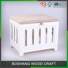 Indoor cushions bench wood frame upholstered storage bench