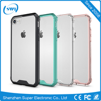 Good Quality Trending Product Ultra Thin Soft TPU Transparent Acrylic Combo Case Back Cover for iPhone 7 7 Plus