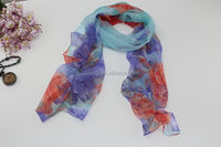 Fashion branded summer polyester scarf
