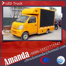 Changan 4*2 53hp mini truck with advertisement led panel, led mobile truck for sale