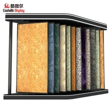 Flooring display wing rack fashionable custom book type system showroom ceramic tile stand